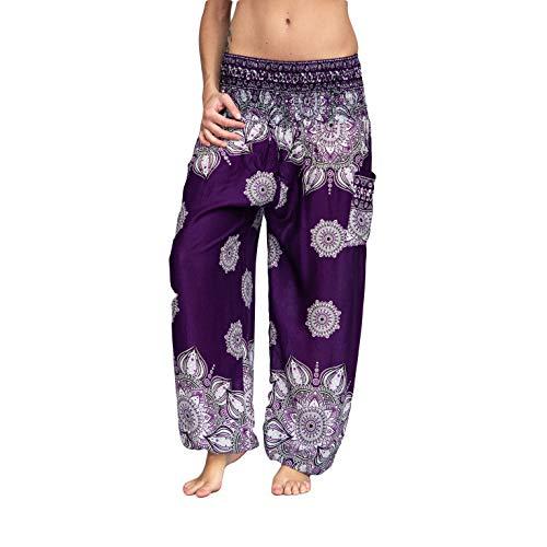 mienloco - Pantalón Globo de estilo harén, yoga, etc.