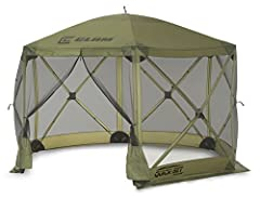 Sets up in 45 seconds and ready to use right out of the box - no assembly required 94 total square feet of interior space with a 90″ center height clearance and easily fits 6-8 People No-see-um mesh screen,  water resistant roof with taped seams,  tr...