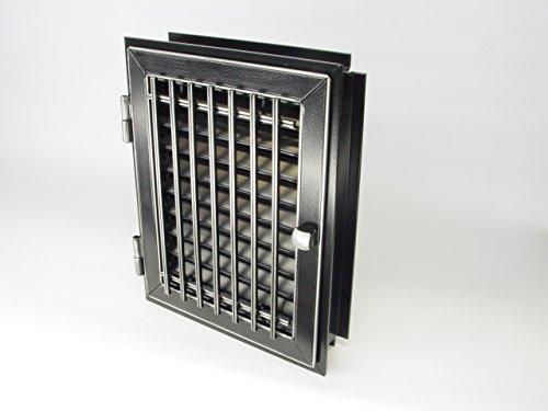 De ventilación de aire caliente rejilla de tubo puerta horno de puerta ornamentales rejilla de persiana 29/23 negro y plateado 1-kachlig 28 modelo clásico