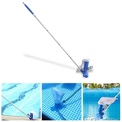 Estink- Automatic Handheld Jet Pool Vacuum Underwater Cleaner with Adjustable Pole, Scrub Brushes, Leaf Bag - for Above Ground Pool, Spa, Pond, Fountain and Hot Tub
