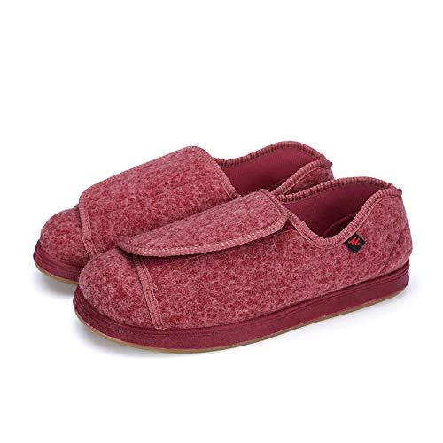 Nwarmsouth Unisex Erwachsene Gesundheits Schuh,Lose Schuhe mit Daumen Valgus, verstellbare Fußschwellung Schuhe-38_pink,Gesundheitsschuh für Senioren und Diabetiker