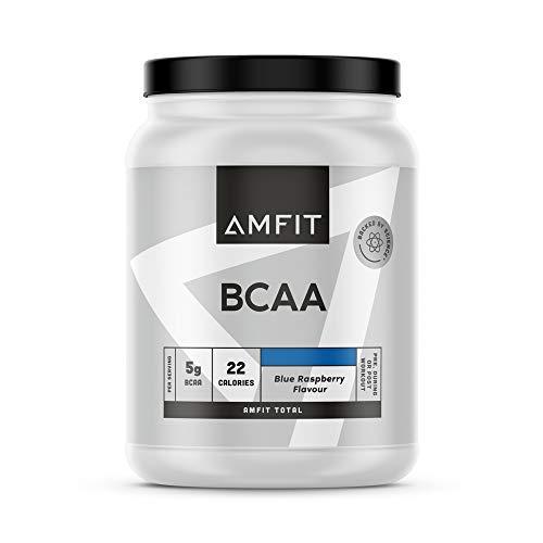 Marchio Amazon - Amfit Nutrition BCAA, Gusto Lampone Blu, 500g