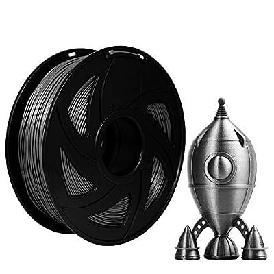 Xvico PLA 3D Printer Filament 1.75mm Filaments 3D Printing 1kg 2.2lbs for FDM 3D Printer, Grey