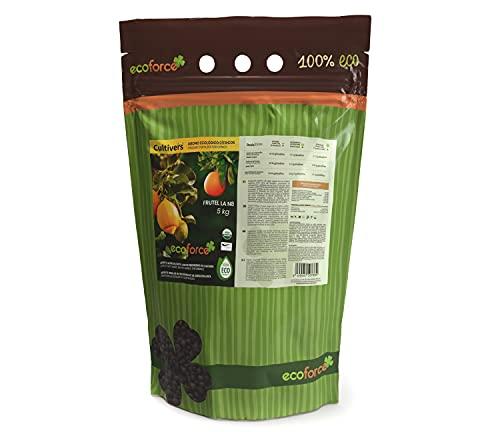 CULTIVERS Abono Ecológico Cítricos de 5 Kg. Fertilizante Origen 100% Orgánico y Natural Microgránulado. Mayor Rendimiento y Aumento del Calibre del Fruto