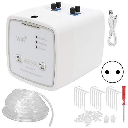 Temporizador de riego, WiFi Temporizador de riego Inteligente para jardín Kit de riego por Goteo Sistema de riego...