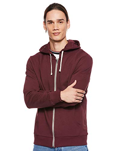 JACK & JONES Herren Jjeholmen Sweat Zip Hood Noos Sweatjacke, Rot (Port Royale Fit:reg Fit), S