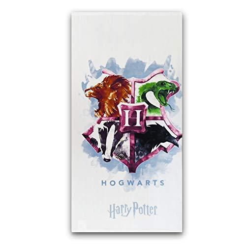 New Toalla Playa o baño Harry Potter, Nuevo diseño Hogwarts, 70X140cm, Producto Oficial Harry...