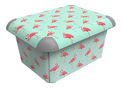 Sundis Art Box A4 15L Artbox Flamingo Caja Decorativa con Tapa, Flamencos, A5