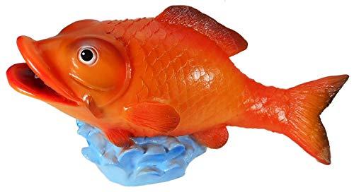 Wasserspeier Fisch Kanari 43 x 17 x 23 cm Garten bruchfest PVC Deko GRS 0953ws