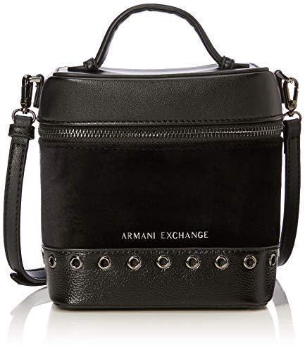 ARMANI EXCHANGE Cross-body Bag - Borse a tracolla Donna, Nero, 17.0x12.0x15.0 cm (B x H T)