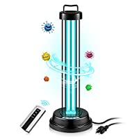 UV Germicidal Lamp Light Sanitizer with Ozone Bulb UV-C Light 46W Remote Control Timer 15 min/ 30 min / 1 Hour for Car Living Room Bedroom Household Kitchen Hotel Pet Area from PROALLER
