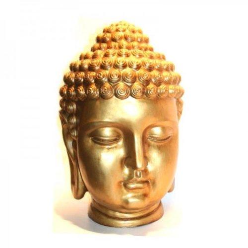 Buddha Kopf Gold-Optik Büste 55 cm