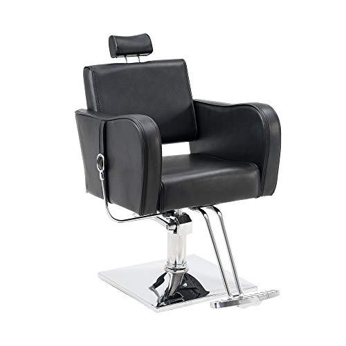 BarberPub Recliner Hydraulic Barber Chair Classic Antique Hair Spa Salon Styling Beauty Equipment 3124