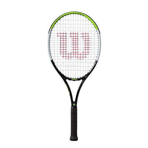 Wilson Raqueta de Tenis, Blade Feel 26, Jugador Junior de 11 años en adelante, Compuesto de Fibra de Vidrio y Aluminio, Verde/Gris/Negro, WR055410U