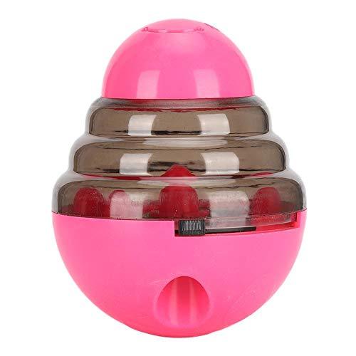 Redxiao (Pink) Juguete Educativo Interactivo para Perros, Pelota de Juguete de Entrenamiento Interactivo Bola Inteligente Roly-Poly Toy Dog Puzzle Ball, para Perros Gatos