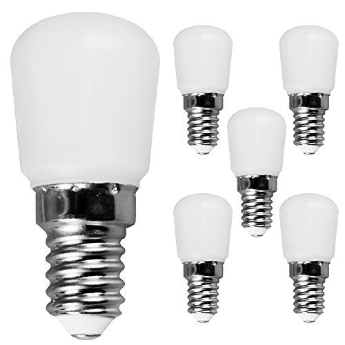 LED Leuchtmittel T26 Röhre Kühlschrank 3W = 25W E14 opal matt 280lm 2700K warmweiß DIMMBAR (5 Stück)