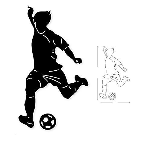FEWIHIWEAS 2021 hot Fitness Fußball Metallschneidwerkzeuge Schablonenalbum Stempel Papierkarte Prägung-Dunkelgrau