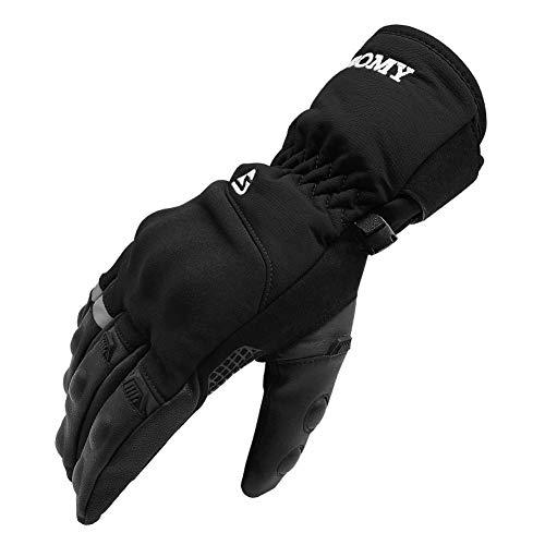 バイク グローブ オートバイの手袋 バイク 防寒グローブ 自転車 手袋 防水 スマホ対応 保温性 防風性 滑り止め お釣り・スキー・スノーボード・サイクリングに適用 グローブ ドライビンググローブ バイクグローブ 男女兼用 (黒, L)