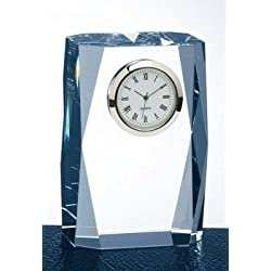 Fantasy Column Optical Crystal Clock Trophy