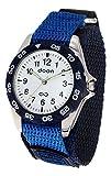 Doon Vahe Reloj para Mujer/Hombre con Esfera Blanca, Correa Azul de Nylon - D2063-001