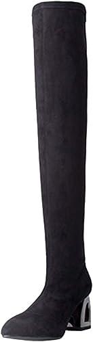 Bottes pour Femmes Cuisse Haut sur Le Genou Chunky Bottes Bottes élastiques De La Mode Femmes Chaussures  gros prix discount