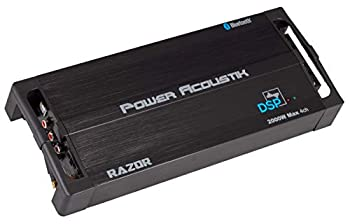 Power Acoustik RZ4‐2000DSP Razor Series 2,000-Watt Max 4-Channel Class D Amp with DSP and Bluetooth
