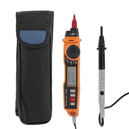 Akozon Pen-Typ Digitales Multimeter PEAKMETER MS8211 Multimeter mit Sonde ACV/DC Strom Spannung Widerstand Diode Konnektivität Handtester Auto und Manual Ranging Data Hold 2000 Counts Hintergrundbel