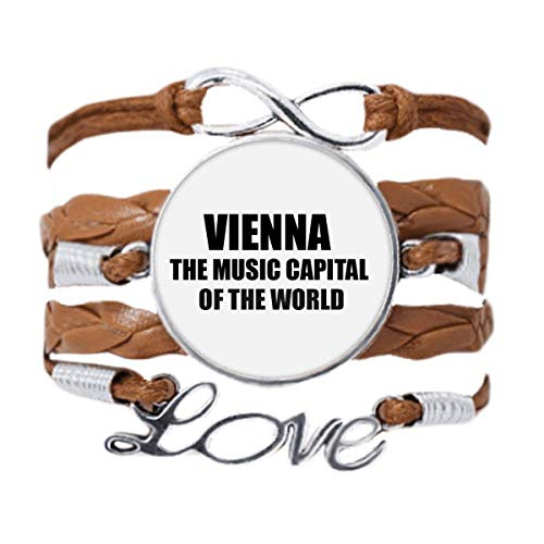 DIYthinker Vienna Music Capital Of The World Bracelet Love Chain Rope Ornament Wristband Gift