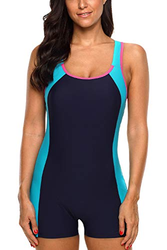 CharmLeaks Women Racerback One Piece Boyleg Swimming Costume