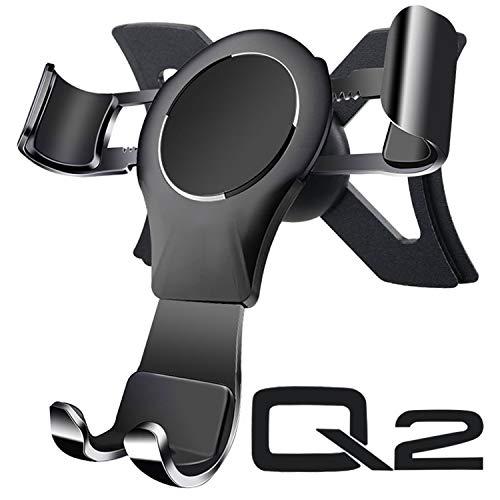 AYADA Handyhalterung für Audi Q2, Handy Halter Phone Holder Gravity Auto Lock Stabil ohne Jitter SUV 2017 2018 2019 2020 Zubehör Accessories
