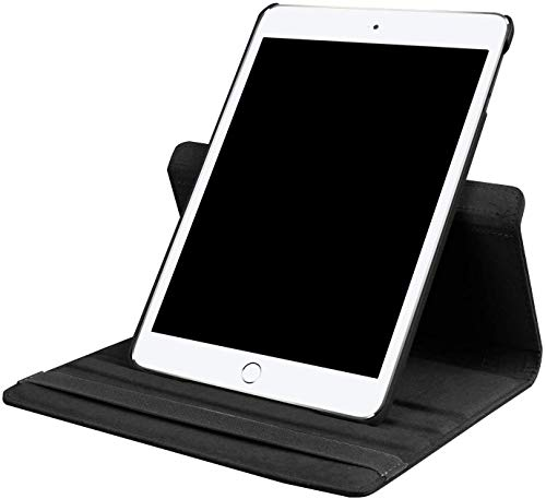 Shoppers Point 360 Degree Rotating Smart Leather Stand Protective Cover Case Compatible for New iPad 8th Gen (2020) / 7th Generation (2019) 10.2 Inch - Black