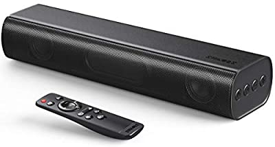 Sound Bars for TV, SAKOBS Soundbar for TV Built-in DSP PC Speaker with Bluetooth, 3D Surround Sound 16'' Mini Sound Bar Audio System for Home Theater/Gaming/Projectors, Combined AUX/Opt Connectivity