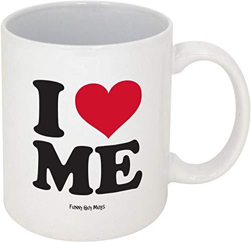 Jackgold Honey DIY Funny Mugs I Love Me Ceramic Coffee Mug, White, 11-Ounce