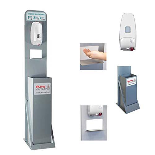 Auto Label Punto Higiénico Estación Higienizante con Dispensador Automático y Papelera
