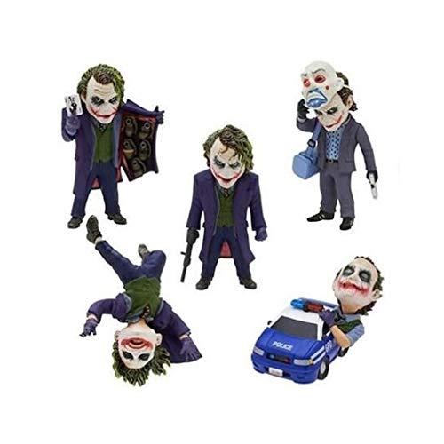 EASTVAPS 5 unids / Set The Dark Knight Joker PVC Figura de acción de colección Modelo de Juguete