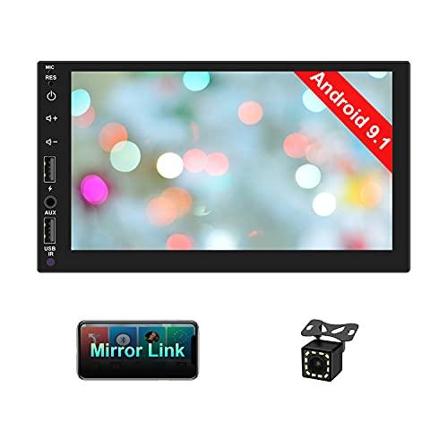 CAMECHO Autoradio 2 Din Bluetooth Navigazione GPS 7 pollici HD con schermo Stereo Auto FM Radio Con USB/scheda SD/ingresso AUX, Supporto Mirror Link+WIFI+Controllo del volante+Fotocamera di Backup