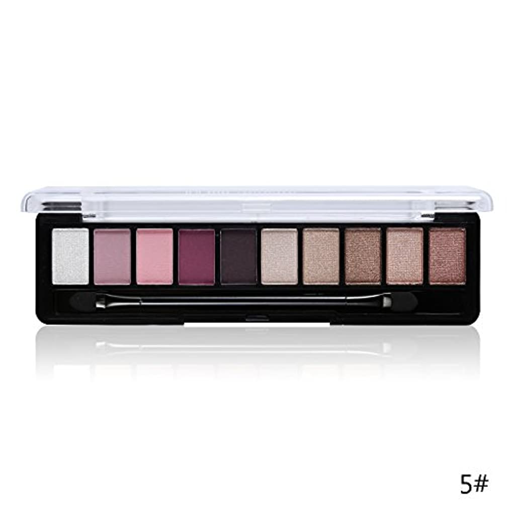 便利さ寛大な自信がある(5#) Professional Makeup Brand Earth Color 10 Colors Eyeshadow Palette Glitter Eye Palette Maquiagem Matte Silky Pigments