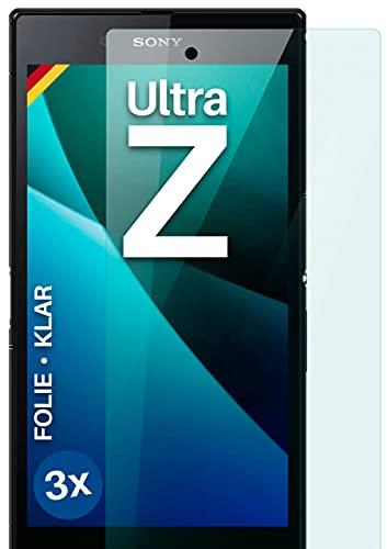 moex Klare Schutzfolie kompatibel mit Sony Xperia Z Ultra - Bildschirmfolie kristallklar, HD Bildschirmschutz, dünne Kratzfeste Folie, 3X Stück