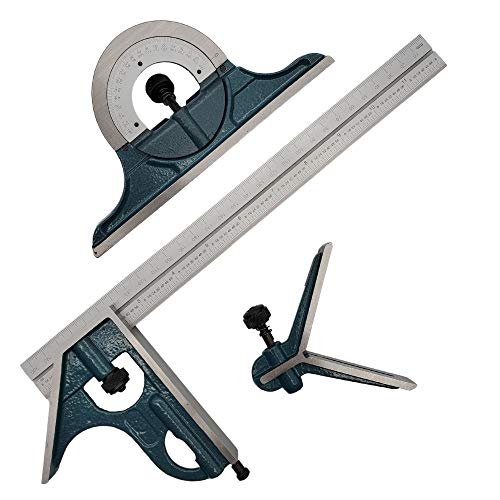 Combination Square Set with Protractor, Woodworking Square,...