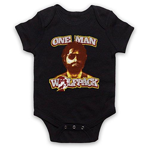 My Icon Art & Clothing Hangover Alan One Man Wolfpack Comedy Film Babystrampler, Schwarz, 0-3 Monate