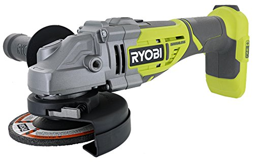 Ryobi P423 18V One+ Brushless 4-1/2' 10,400 RPM Grinder and Metal Cutter w/ Adjustable 3-Position Side Handle and Onboard Spanner Wrench (Battery Not Included, Power Tool Only)