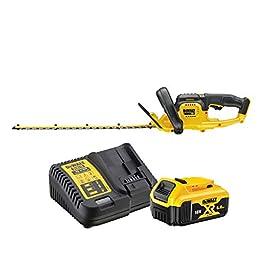 DEWALT – Taille-Haies Brushless XR 18V 5Ah Li-Ion – DCM563P1-QW – Taille Haie Électrique sans Fil avec Batterie et…