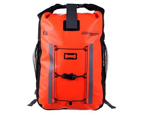 Overboard Pro-Vis Waterproof Backpack Bag - Orange, 30 Litres by Overboard