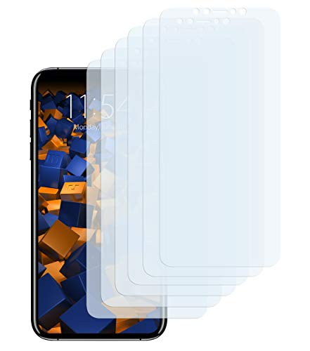 mumbi Schutzfolie kompatibel mit iPhone XS Max Folie klar, Displayschutzfolie (6X)