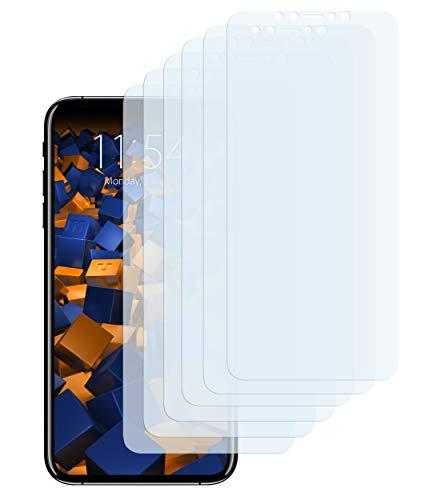 mumbi Schutzfolie kompatibel mit Apple iPhone XS Max Folie klar, Bildschirmschutzfolie (6x)