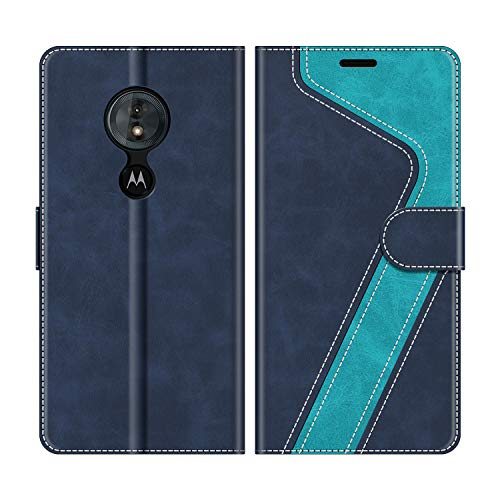 MOBESV Handyhülle für Motorola Moto G6 Play Hülle Leder, Motorola Moto G6 Play Klapphülle Handytasche Hülle für Motorola Moto G6 Play Handy Hüllen, Modisch Blau