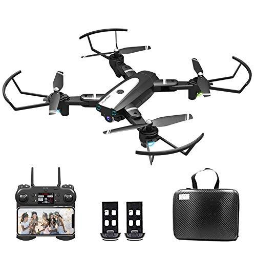 3T6B Drohne mit Kamera, Drohne mit 1080P HD WiFi Kamera für Erwachsene und Kinder, 24 Minuten Lange Flugzeit, One Key Return, Live Video, Orbit Flug, Headless Modus