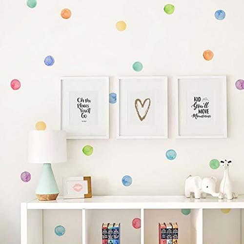 Juego de 29 pegatinas de PVC para pared de bebé con lunares de colores creativos, pegatinas de vinilo para decoración de habitación infantil