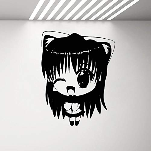 Vinyl Wandaufkleber Manga Anime Mädchen Kinderzimmer Aufkleber Wandbild niedlichen Cartoon Dekoration Wandaufkleber Schlafzimmer Japanische Manga Mädchen Aufkleber andere Farbe 32x42cm