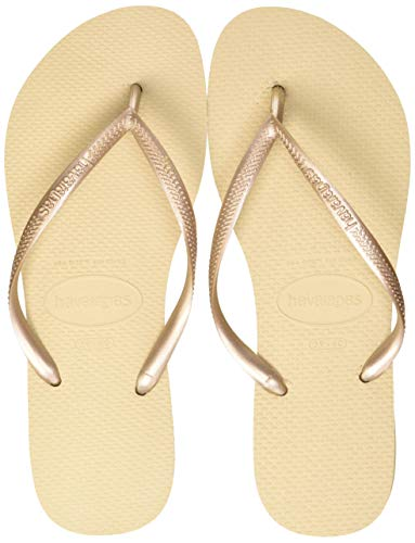 Havaianas Damen Slim' Zehentrenner, Gold (Sand Grey/Light Golden), 41/42 EU